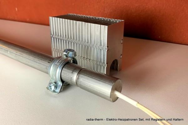 radia-therm Elektro-Heizleisten Set 1,5 m 420W/230V mit 1,4 lfm. Heizregistern-